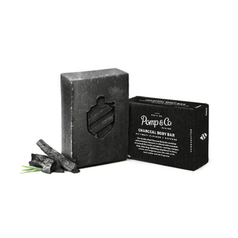 Pomp & Co - Charcoal Body Bar - mydło do ciała